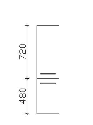 Pelipal Neutraler Bad-Midischrank 2 Türen - Breite und Tiefe wählbar
