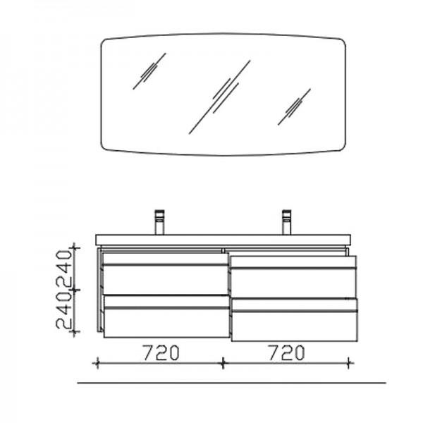 Pelipal Balto Badmöbel Set 148 cm breit – Set 3.1