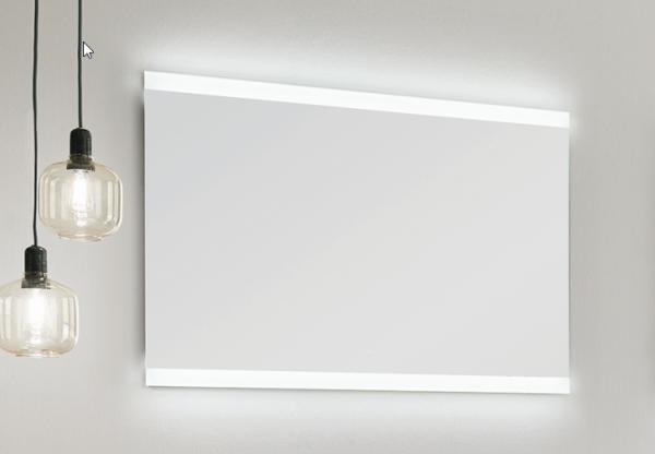 Puris Xpression - Flächenspiegel - 120 cm / LED oben und unten