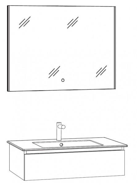 Marlin Bad 3290 Badmöbel Set 80 cm breit, mit Spiegel - Variante 1