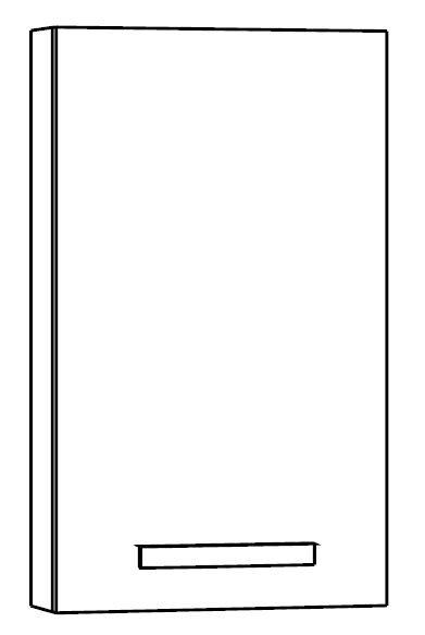 Marlin Bad 3160 - Motion Bad-Oberschrank 40 cm breit MNOT401D