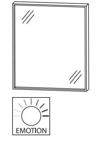 Puris Aspekt Badspiegel 60 cm breit