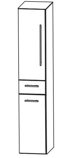 Puris Kao Line Bad-Hochschrank 30 cm breit HNA0530W L/R