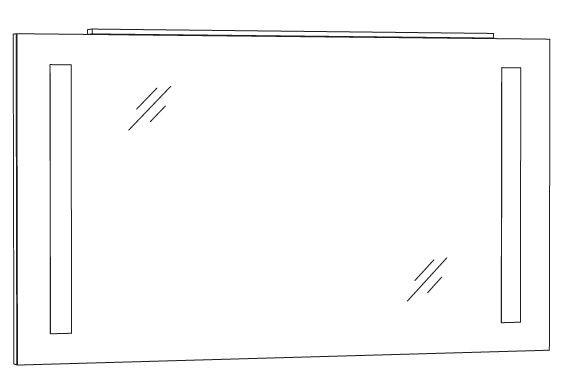 Marlin Bad 3130 - Azure Badspiegel 120 cm breit SPFLS12