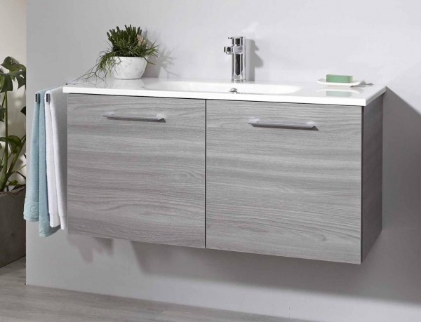 Pelipal Solitaire 6110 Waschtisch mit Unterschrank 100 cm breit - 2 Türen