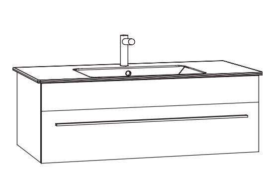 Marlin Bad 3260 Waschtisch mit Unterschrank WKHBS11 / 120 cm