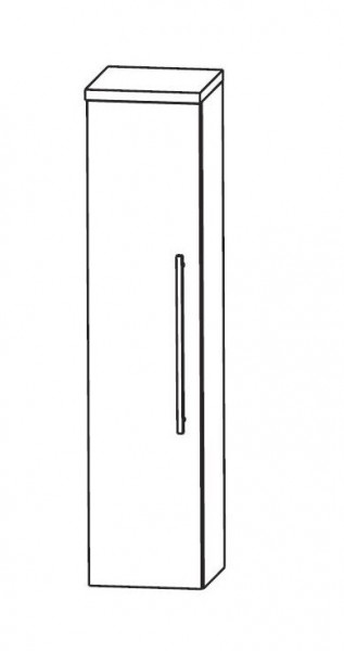 Puris Speed Bad-Mittelschrank 40 cm breit mit Innenschubkasten MNA844A