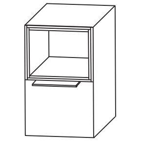 Puris Aspekt Bad-Unterschrank mit Auszug / Einschubregal und Ablageplatte