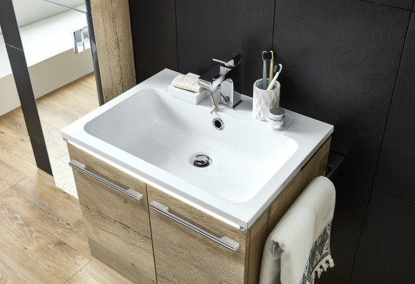 Marlin Bad 3250 Waschtisch mit Unterschrank 60 cm breit, mit Türen