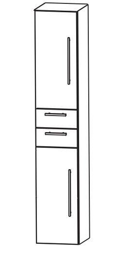 Puris Kao Line Bad-Hochschrank 30 cm breit HNA043001 L/R