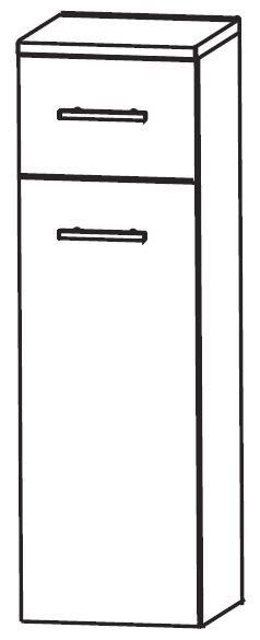 Puris Fresh Bad-Highboard 40 cm breit HBA554W01