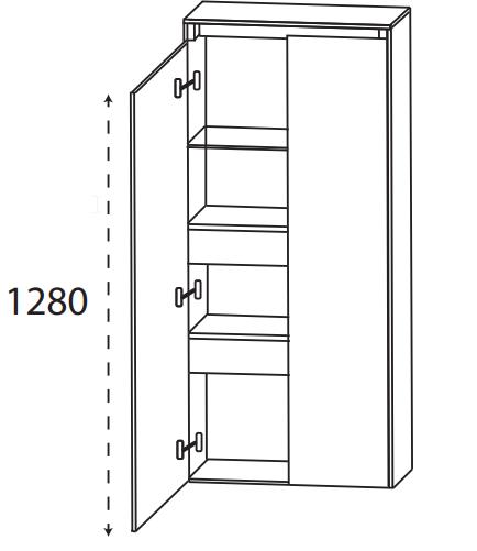 Puris Xpression - Mittelschrank MNA846DGL - 60 cm-Copy