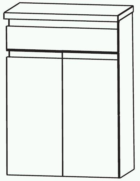 Puris Variado 2.0 Bad-Highboard 60 cm breit HBA556A7M