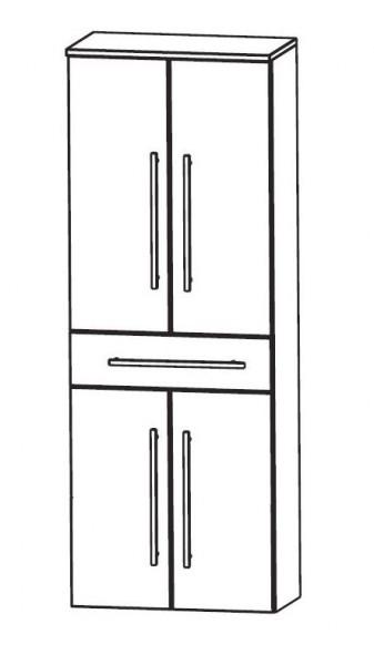 Puris WoW Bad-Hochschrank mit Wäschekippe 60 cm breit HNA056AW