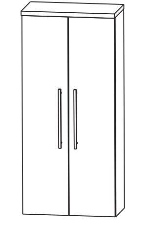 Puris Kao Line Bad-Mittelschrank 60 cm breit MNA816A7