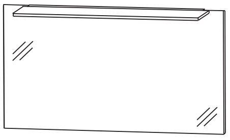 Puris d.light Badspiegel 120 cm breit FSA412B30