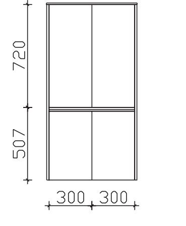 Pelipal Solitaire 6040 Bad-Midischrank mit 4 Drehtüren / 63 cm MLT516017