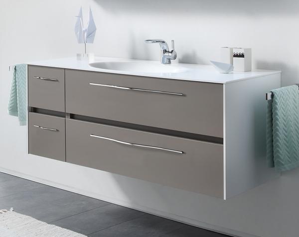 Pelipal Solitaire 6010 Waschtisch mit Unterschrankt 133 cm breit - Becken mittig