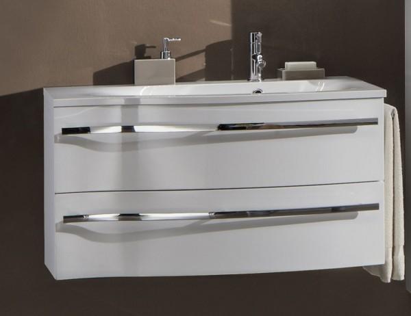 Marlin Bad 3160 - Motion Waschtisch mit Unterschrank 90 cm breit - Becken rechts