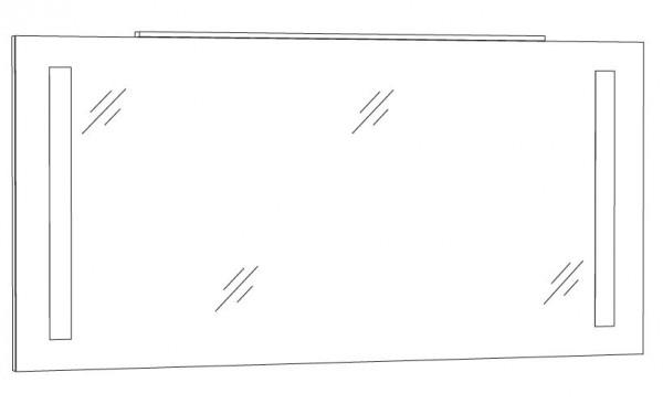 Marlin Bad 3130 - Azure Badspiegel 140 cm breit SPFLS14