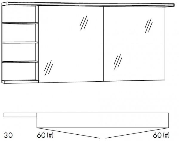 Marlin Bad 3160 - Motion Spiegelschrank 150 cm breit SOBSR66/SOBSR66LS