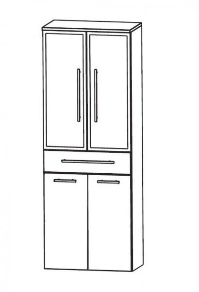 Puris Speed Bad-Hochschrank 60 cm breit mit Wäschekippe HNA056BW