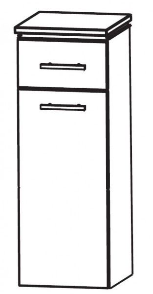 Puris Cool Line Bad-Highboard 40 cm breit mit Wäschekippe HBA554A5W