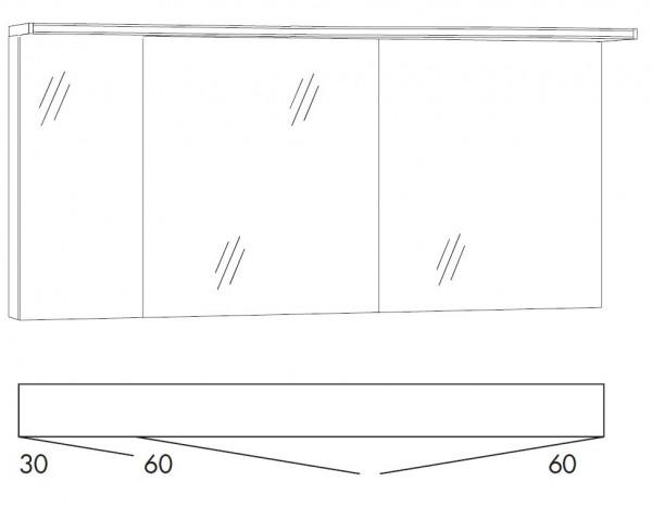 Marlin Bad 3160 - Motion Spiegelschrank 150 cm breit SAOS336OL/SAOZ366OL