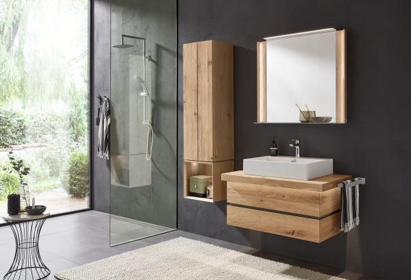 Thielemeyer Fresh Massivholz Badmöbelset Vorschlag 3 - Set 801293 / Strukturesche oder Wildeiche