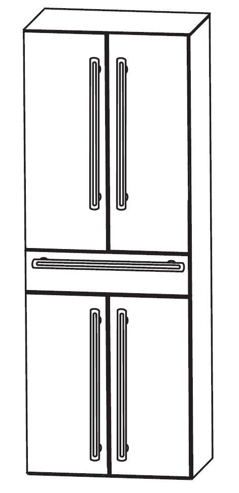 puris brillant bad hochschrank 60 cm breit hna0560. Black Bedroom Furniture Sets. Home Design Ideas