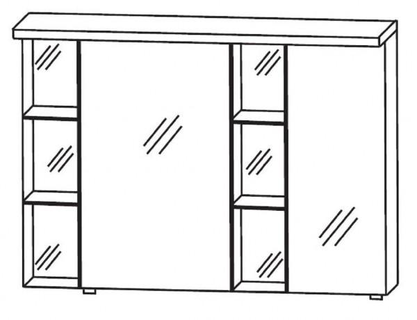 Puris Linea Bad-Spiegelschrank 100 cm breit S2A42R1S1