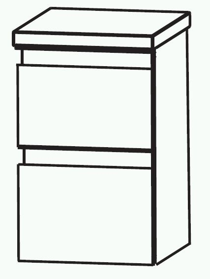 Puris Variado 2.0 Bad-Unterschrank 30 cm breit UNA363A7