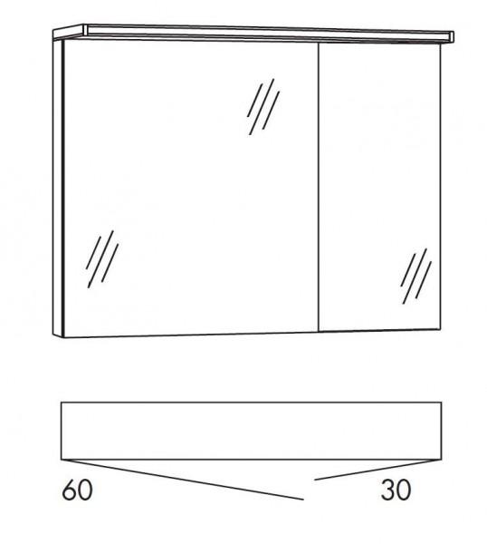 Marlin Bad 3160 - Motion Spiegelschrank 90 cm breit SAOS63 / SAOS36