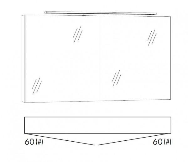 Marlin Bad 3160 - Motion Spiegelschrank 120 cm breit SFLS66 / SFLZ66