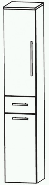 Puris Swing Bad-Hochschrank mit Wäschekippe 30 cm breit HNA053A7W
