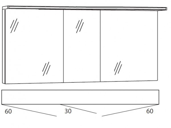 Marlin Bad 3090 - Cosmo Spiegelschrank 150 cm breit SSAOS636