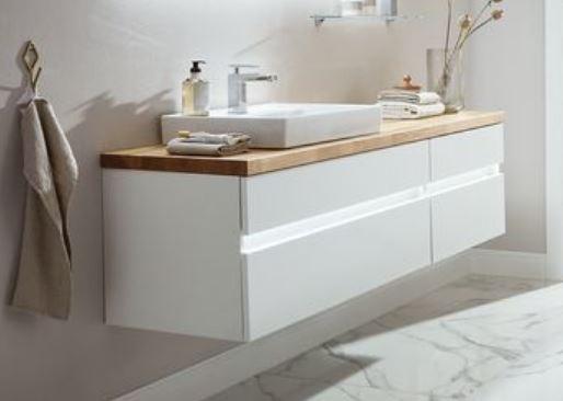 b.essence Set - Waschtisch mit Unterschrank - 160 cm breit