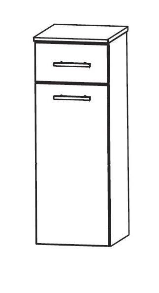 Puris Speed Bad-Highboard mit Wäschekippe 30 cm breit HBA553AW