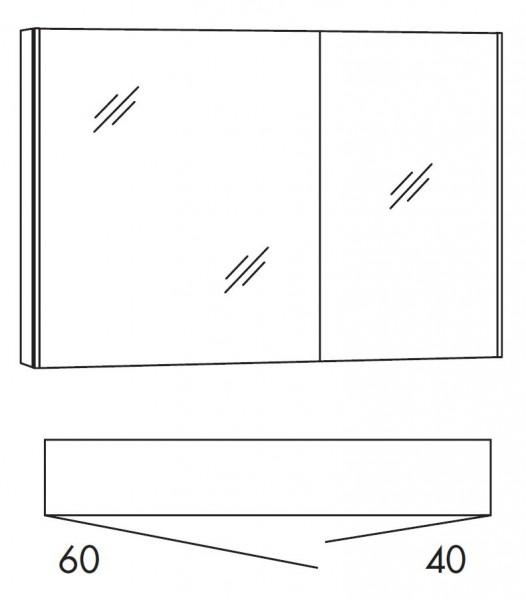 Marlin Bad 3250 Bad-Spiegelschrank 100 cm breit SAD10L / SAD10R