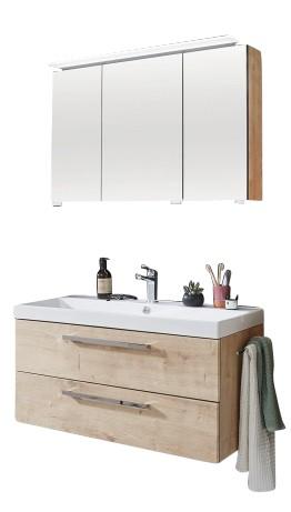 Puris Protection1 - Badmöbelset 100 cm / mit Spiegelschrank - Serie A