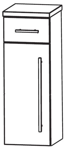 Puris Crescendo Bad-Highboard 30 cm breit HBA553A7M