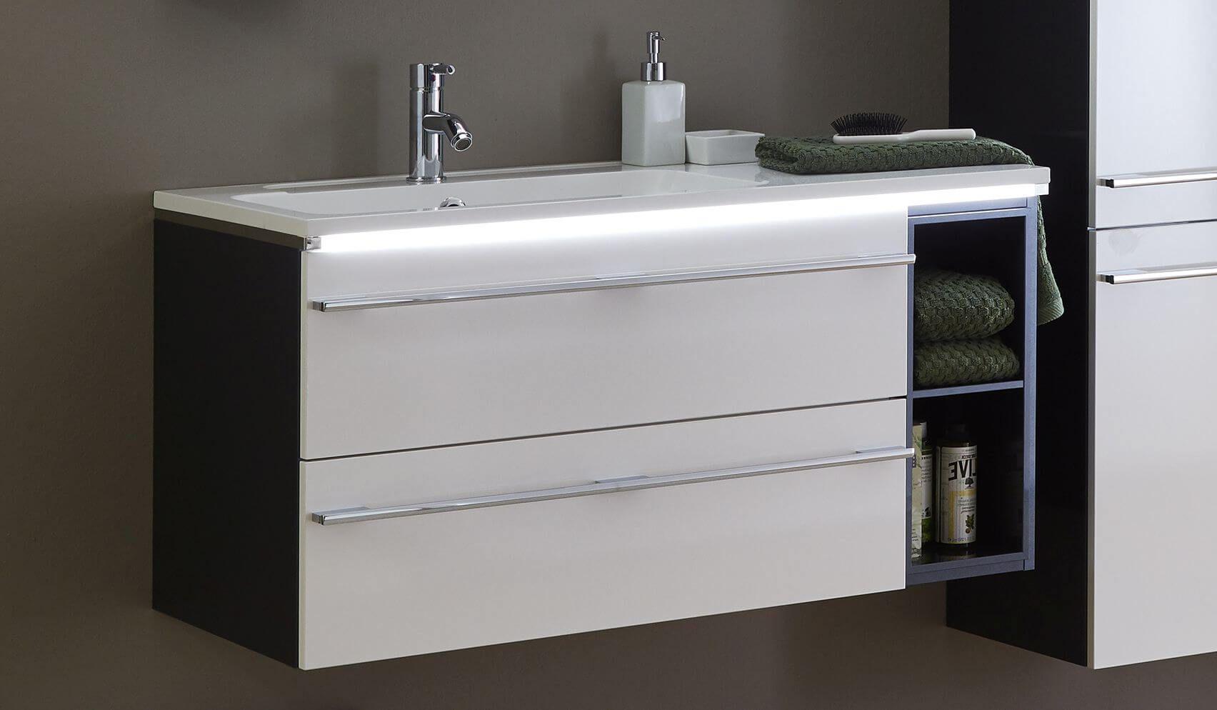 Marlin Bad 3250 Waschtisch-Set 100 Cm / Regal + Auszüge