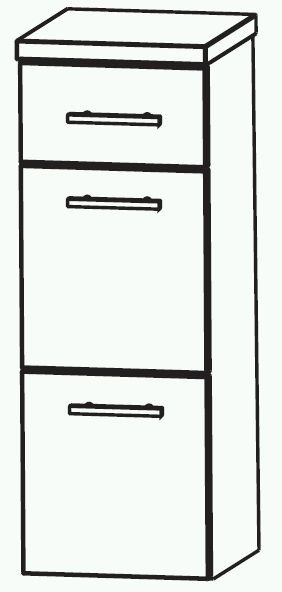 Puris Swing Bad-Highboard 40 cm breit HBA564A7M