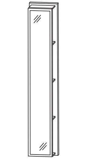 Puris Fine Line Bad-Hochschrank-Regal 30 cm breit RG103002