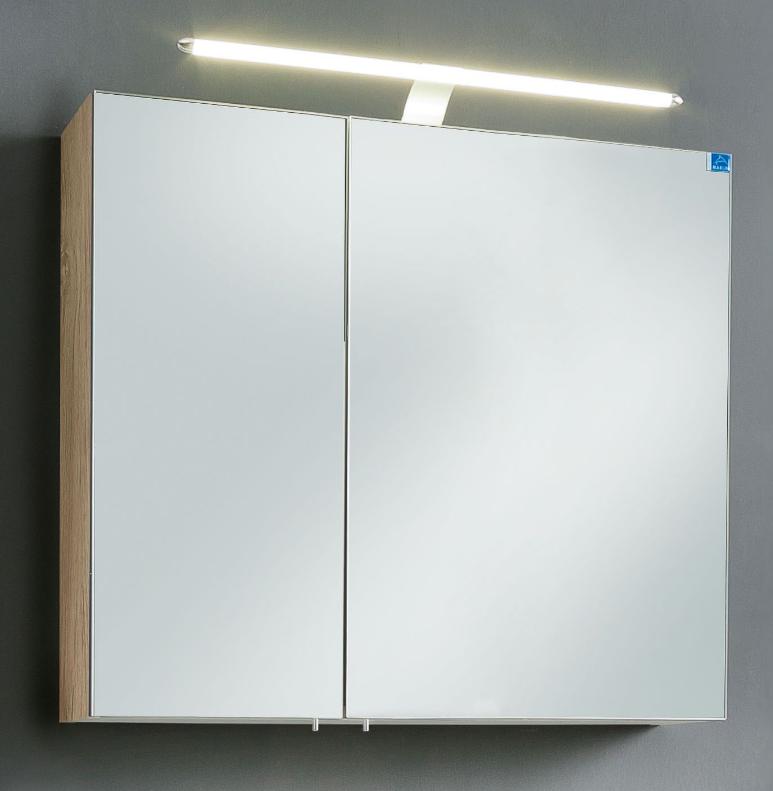 Marlin bad 3030 christall bad spiegelschrank 80 cm breit stoa8s badm bel 1 - Spiegelschrank bad 80 cm ...