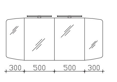 Pelipal Cassca Spiegelschrank 160 cm breit SDAE00316
