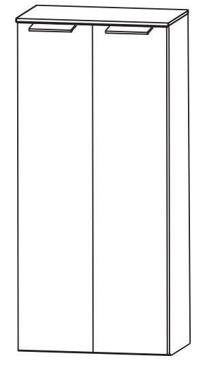 Puris Slim Line Bad-Mittelschrank 60 cm breit MNA816A29