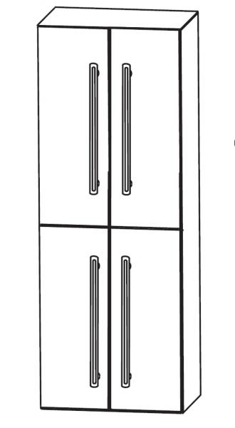 Puris Brillant Bad-Hochschrank 60 cm breit HNA0360