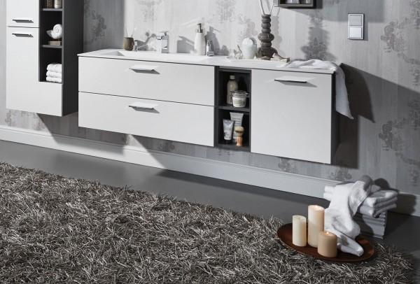Puris Milano Badmöbel Set 151,2 cm breit kombinierbar - Becken wählbar