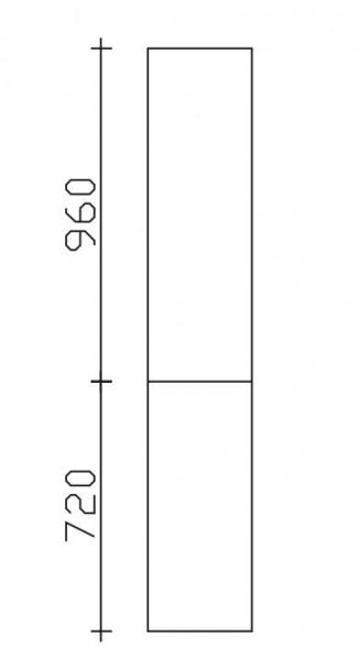Pelipal Neutraler Bad-Hochschrank 2 Türen - Breite und Tiefe wählbar